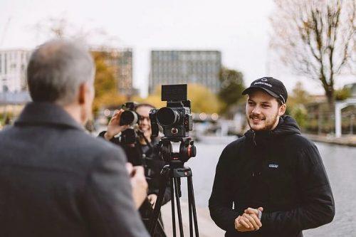 Rupert being Interviewed