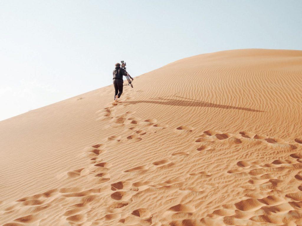 dubai desert film maker