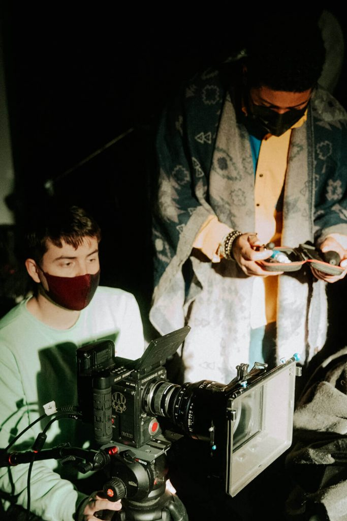 filmmakers Shooting a video