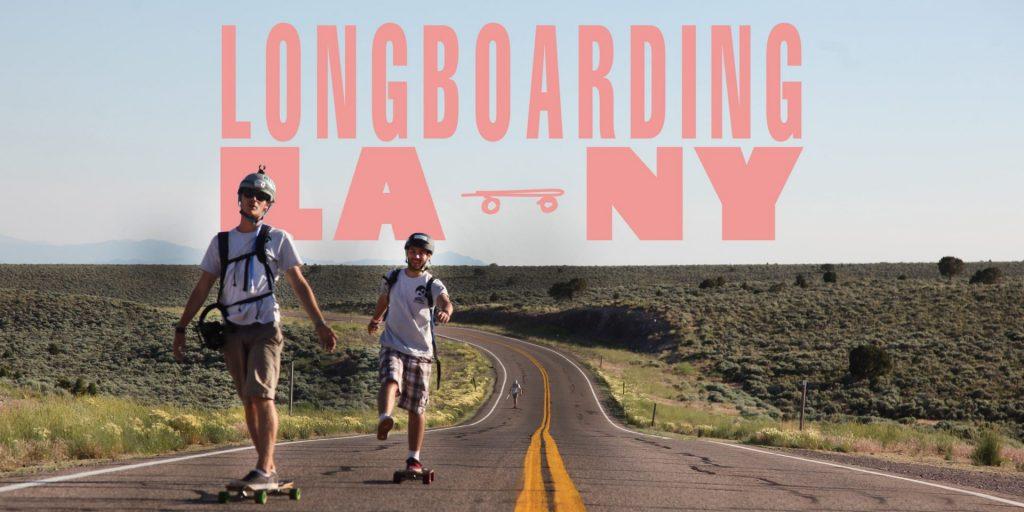 Longboarding LA to NY Poster